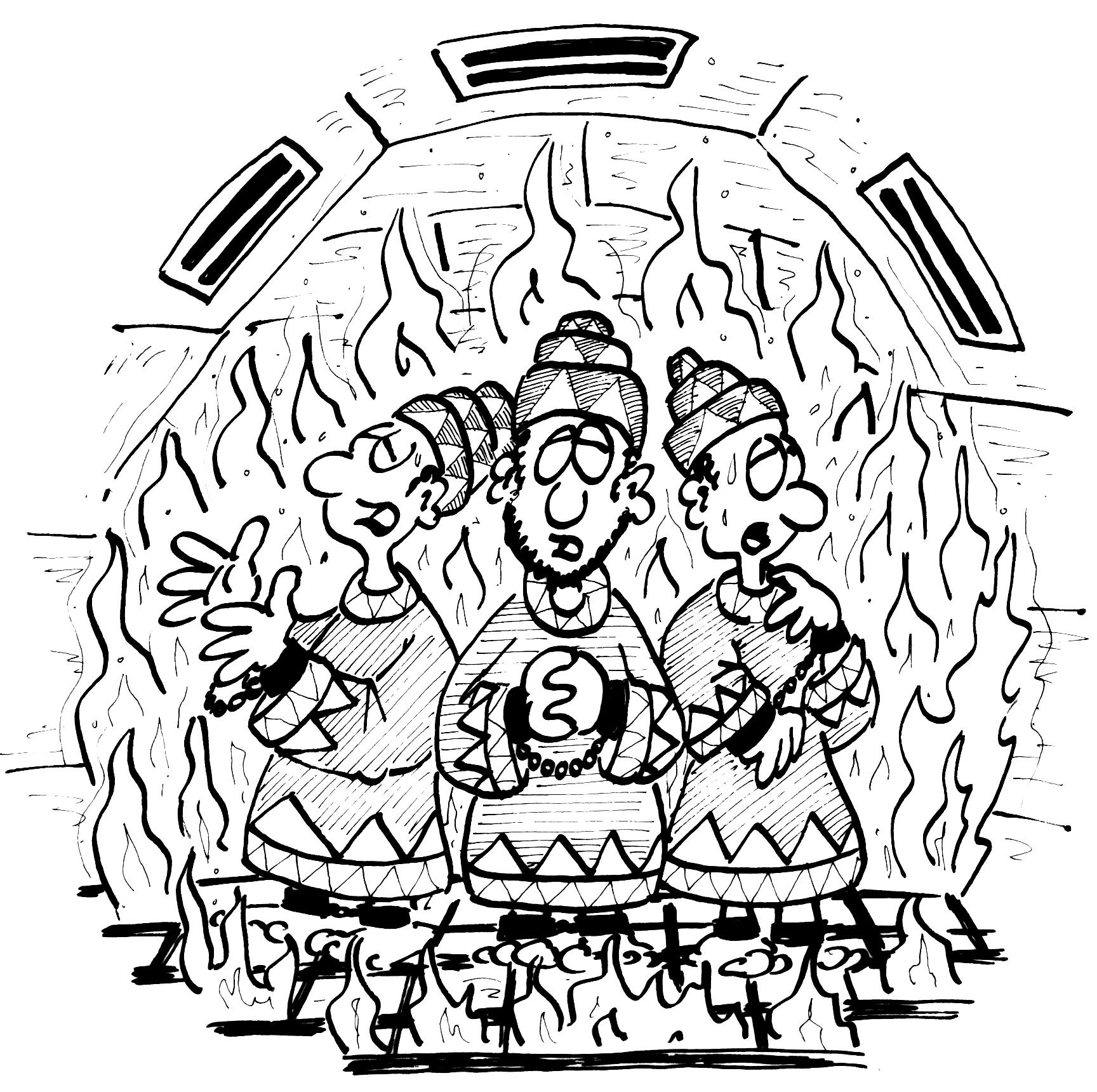 Die drei jungen Männer im Feuerofen