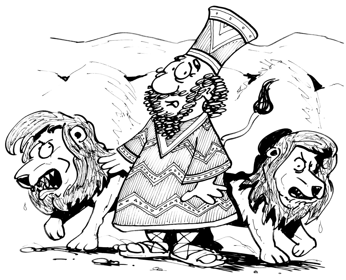 Daniel und die Löwen